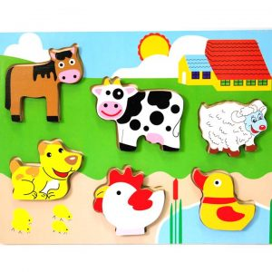 136 – Chunky Puzzles 6 Des Farm Animals