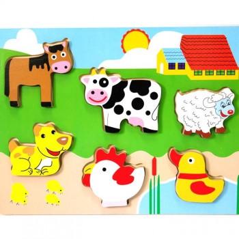 136 – Chunky Puzzles 6 Des Farm Animals