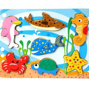 136 – Chunky Puzzles 4 Des Sea Animals