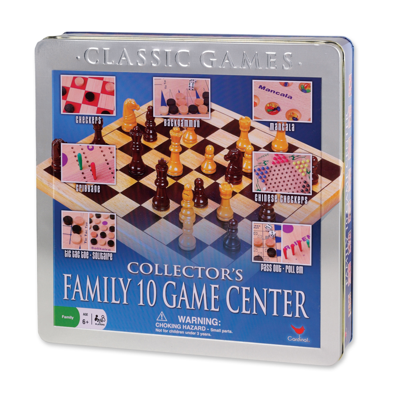 98 – Wood Box 10 Family Games