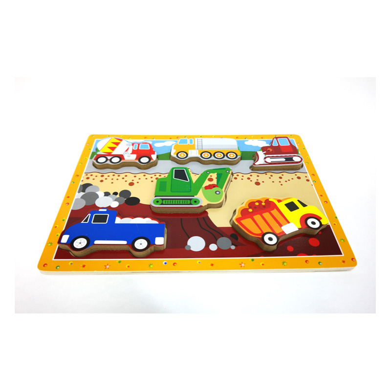 136 – Chunky Puzzles 6 Des Construction Vehicles