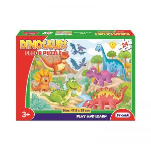 144a – 24pc Floor Puzzle Dinosaurs