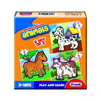 158 – First Puzzle 3 In A Box Animals