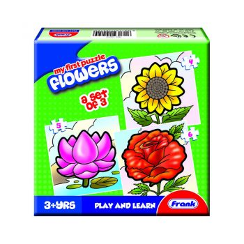 158 – First Puzzle 3 In A Box Flowers