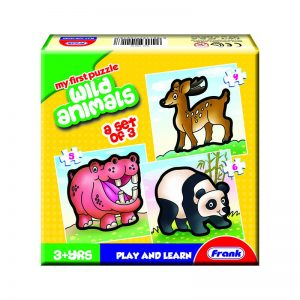 158 – First Puzzle 3 In A Box Wild Animals
