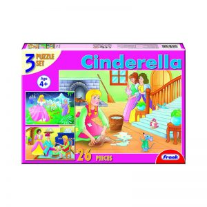 160 – Fairy Tale 3 X 26pc Puzzle Cinderella