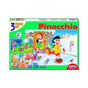 160 – Fairy Tale 3 X 26pc Puzzle Pinocchio