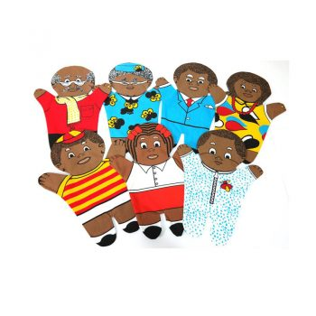 241 – Printed Puppets 7 Member Family Set Black