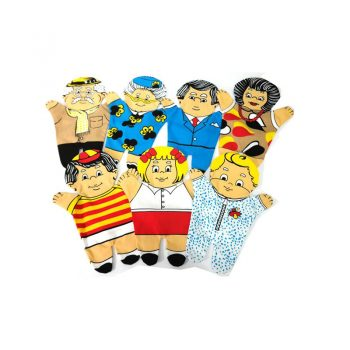 241 – Printed Puppets 7 Member Family Set White