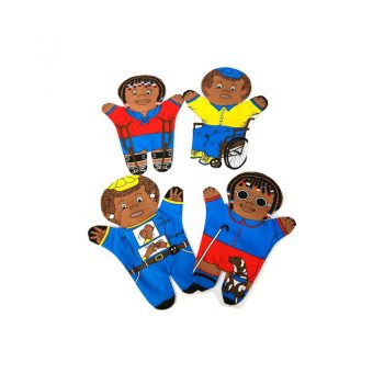 243 – Printed Puppets Special Needs Set Of 4 Black