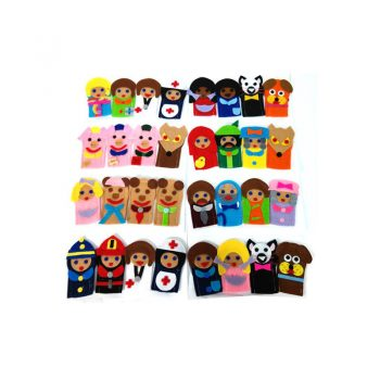 251 – Finger Puppets 11des 4 Animals/3 Pigs/RRHood/3 Bears/Family/Hostpital/BGCD Bulk Price For 20asst. Each