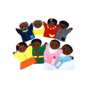 252 – Glove Puppets (46 Des) Each Family Black