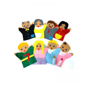 252 – Glove Puppets (46 Des) Each Family White