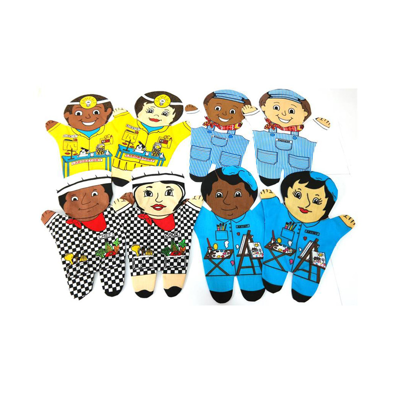 253 – Printed Glove Puppets Each (14 Des) /Scientist/Artist/Engineer/Chef
