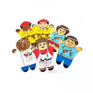 253 – Printed Glove Puppets Each (14 Des) Hairdresser/Barber/Musician/Constr