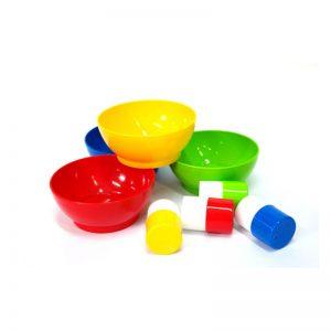 335 – Set (4 Gowi Bowls + 4 Foambrush)