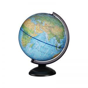 370 World Globe – Blue Illuminated 12″