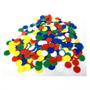 396b – Bag 500-22mm Counters 5 Colours