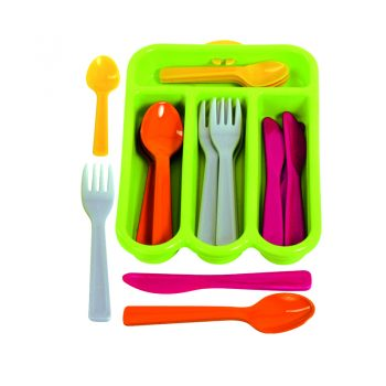 431 – Gowi Cutlery Set In Green Tray