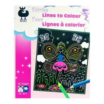 647g – Fairies Lines To Colour (8007)