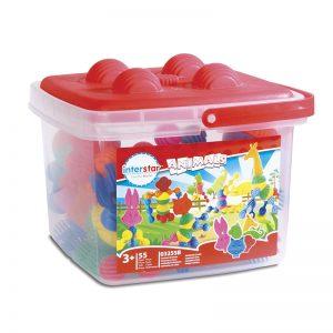 801  – Animals 55 Pc In Bucket