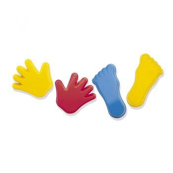 D1247 – Set 4 Primary Col Hands/Feet Mould+spadelet