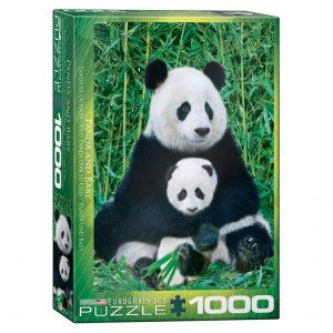 173 – 1000pce Puzzles 6000-0173 Panda & Baby