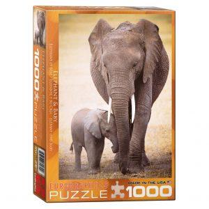 173 – 1000pce Puzzles 6000-0270 Elephant & Baby