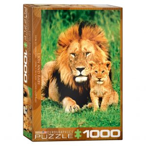 173 – 1000pce Puzzles 6000-1148 Lion & Baby