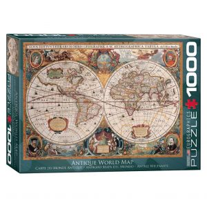 173 – 1000pce Puzzles 6000-1997 Antique Map Of The World