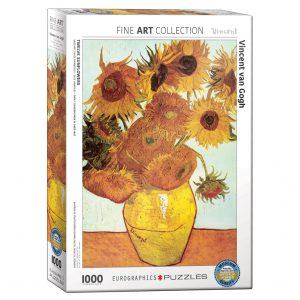 173 – 1000pce Puzzles 6000-3688 Twelve Sunflowers