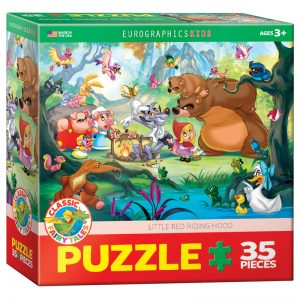 176 – 35pce Classic Fairy Tales Puzzle (6 Des) 6035-0876 Little Red Riding Hood