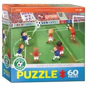 177a – 60pce Junior League Sports Puzzle (3 Des) 6060-0483 Soccer