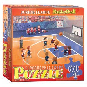 177a – 60pce Junior League Sports Puzzle (3 Des) 6060-0495 Basketball