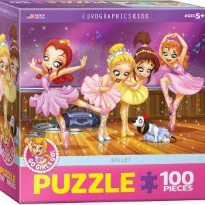 175b – 100pce Puzzle 6100-0414 Go Girls Go Ballet