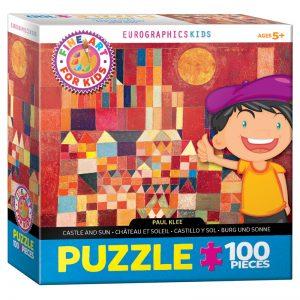 174 – 100pce Fine Art For Kid Puzzles 6100-0836 Klee Castle & Sun