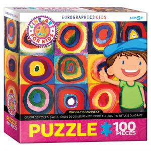 174 – 100pce Fine Art For Kid Puzzles 6100-1323 Kandinsky Colour Study Of Squares & Circles