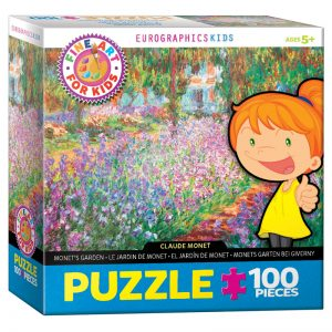 174 – 100pce Fine Art For Kid Puzzles 6100-4908 Monet's Garden