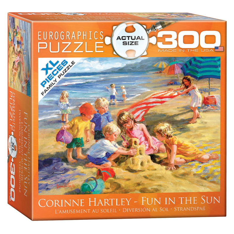 172 – 300pce Oversized Family Puzzles (6 Des) 8300-0449 Fun In The Sun