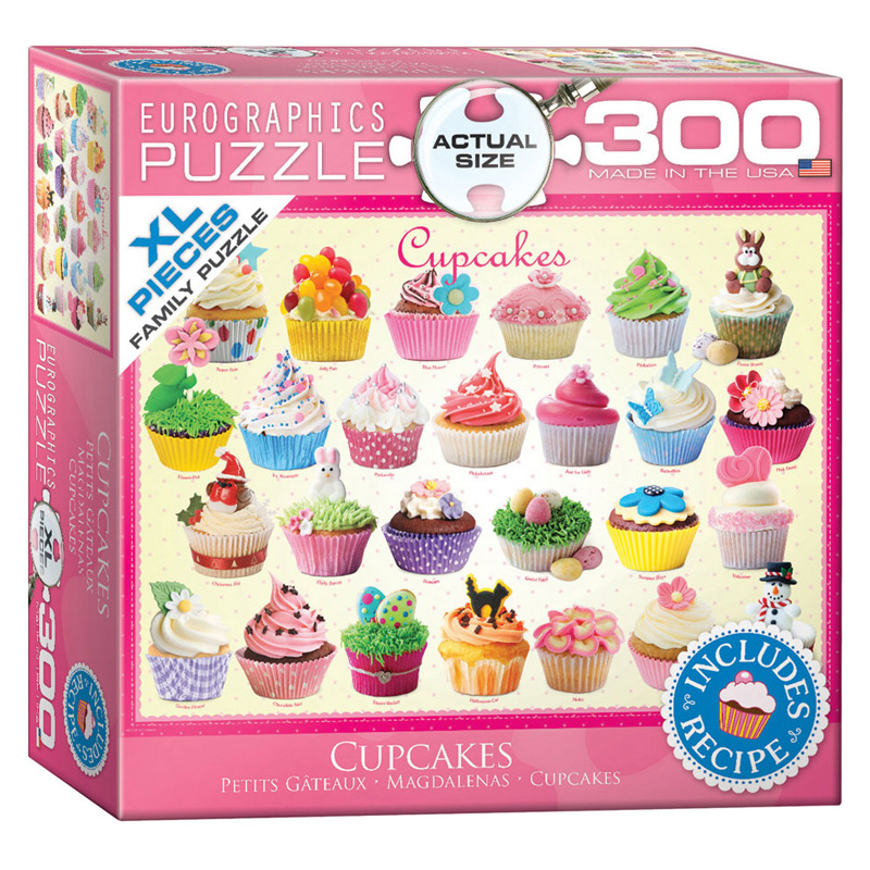 172 – 300pce Oversized Family Puzzles (16 Des) 8300-0519 Cupcakes