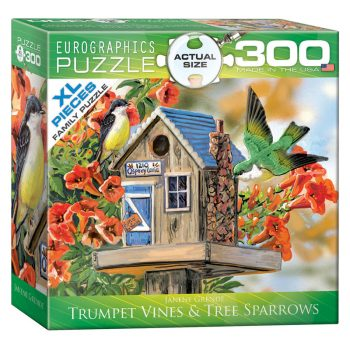 172 – 300pce Oversized Family Puzzles 8300-0602 Trumpet Vines Tree Sparrows