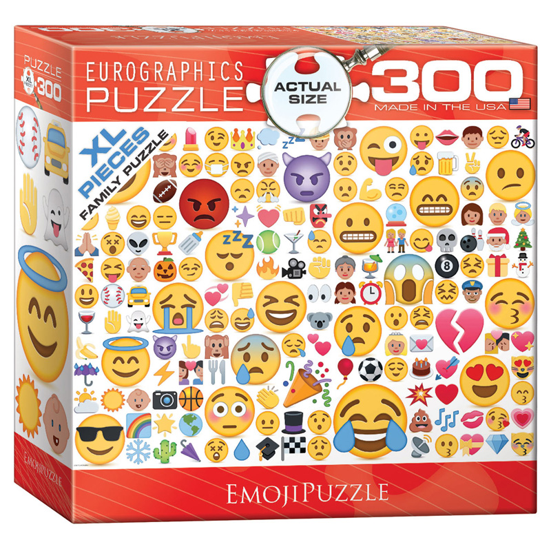 172 – 300pce Oversized Family Puzzles (16 Des) 8300-0816 Emoji Puzzle What's Your Mood