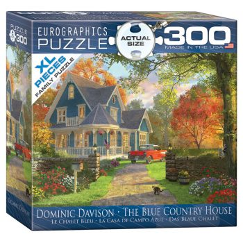 172 – 300pce Oversized Family Puzzles 8300-0978 The Blue Country House