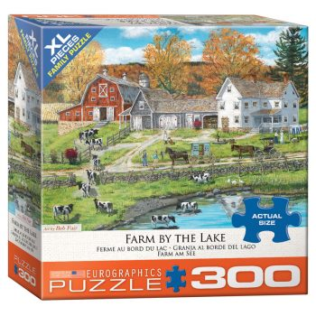 172 – 300pce Oversized Family Puzzles 8300-5382 Farm By The Lake