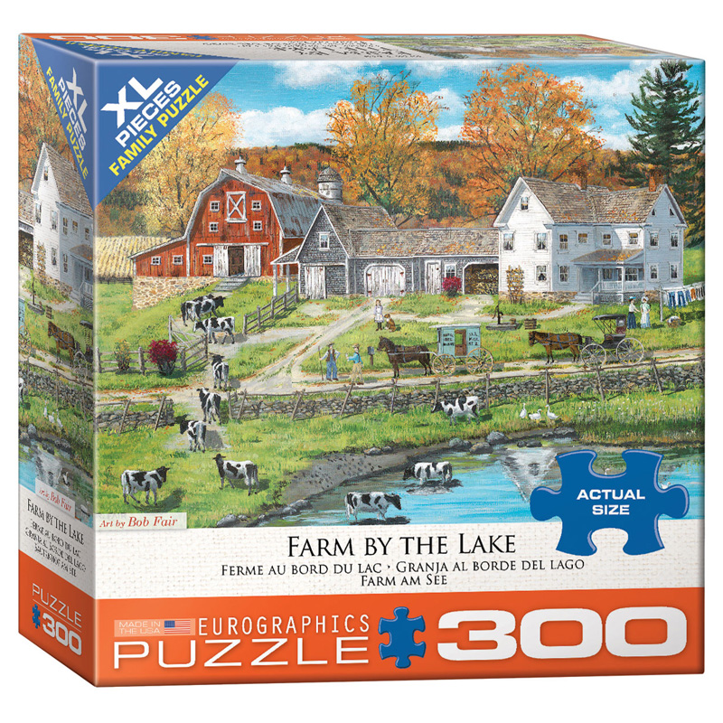 172 – 300pce Oversized Family Puzzles (16 Des) 8300-5382 Farm By The Lake