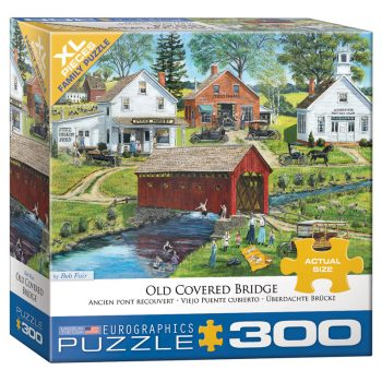 172 – 300pce Oversized Family Puzzles (16 Des) 8300-5383 Old Covered Bridge