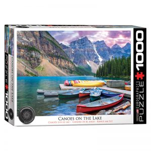173 – 1000pce Puzzles 6000-0693 Canoes On The Lake