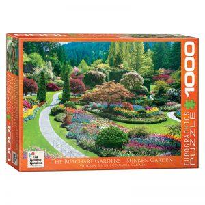 173 – 1000pce Puzzles 6000-0700 Butchart Sunken Gardens