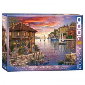 173 – 1000pce Puzzles 6000-0962 Mediterranean Harbor