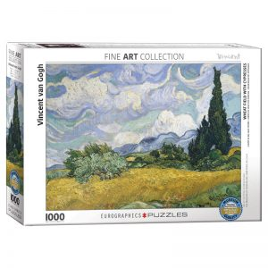 173 – 1000pce Puzzles 6000-5307 Wheatfield With Cypresses
